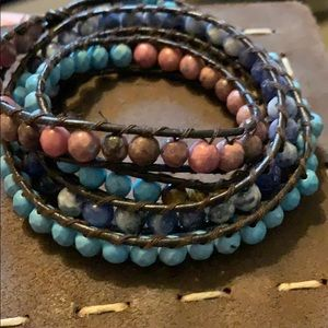 Lucky beaded wrap bracelet